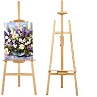 Foldable Wooden Painting Painter Drawing Stand Board 59 Inch Art Display Easel Artist Sketching Sketching Art Craft Display