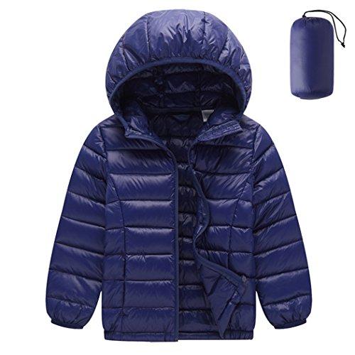 Piumino leggero unisex giacche sportiva di piuma giubbotti inverno cappotti con cappuccio packable