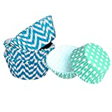 #6: Happy Chef 100 Pcs Paper Liners - Cup Cakes Assorted Designs - Single Pack 10cm