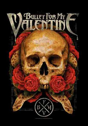 Bullet For My Valentine-Roses-Poster Bandiera Bandiera-100% poliestere-Dimensioni 75x 110cm