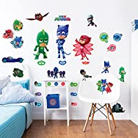 PJ MASKS Wall Stickers, Vinyl, Multi-Colour, 37.5 x 4 x 7 cm