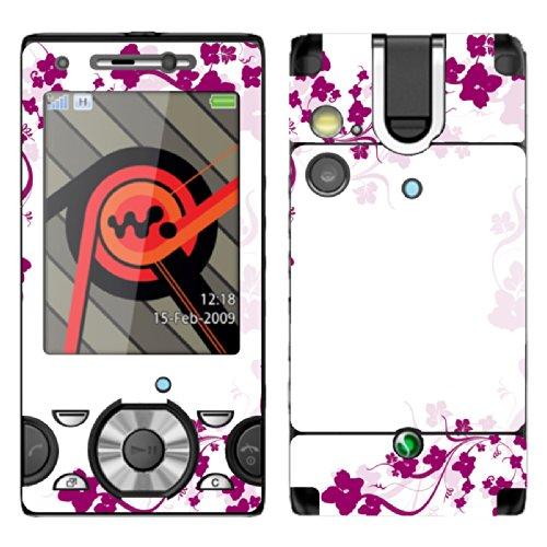 disagu-design-skin-for-sony-ericsson-w995-motif-pinke-blumenranke