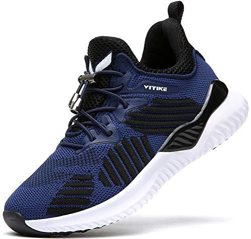 ASHION Kinder Turnschuhe Jungen Sport Schuhe Mädchen Kinderschuhe Sneaker Outdoor Laufschuhe für Unisex-Kinder(A-blau,37 EU)