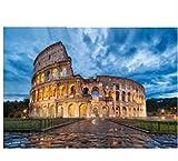 HPCGLL Pintura De Diamantes Coliseo De Roma, Italia, En El Último Edificio DIY 5D Diseño De Bordado De Diamantes Cuadrado Completo Decoración del Hogar 40X50 CM