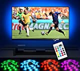 Emotionlite Bias Lighting Strip LED TV Backlight Strip Multi Color RGB Tape Color Changed with 24keys Remote Control for 32″ to 60″ Flat Screen HDTV LCD and Desktop PC