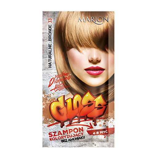 Marion Gloss Hair Color Shampoo in Sachet Lasting 4 to 8 Washes Ammonia FREE 33 Natural Blonde