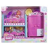Simba 105036610 - Mini new born Baby, zwei Puppen, 12 cm, inklusive Kinderzimmer-Set -