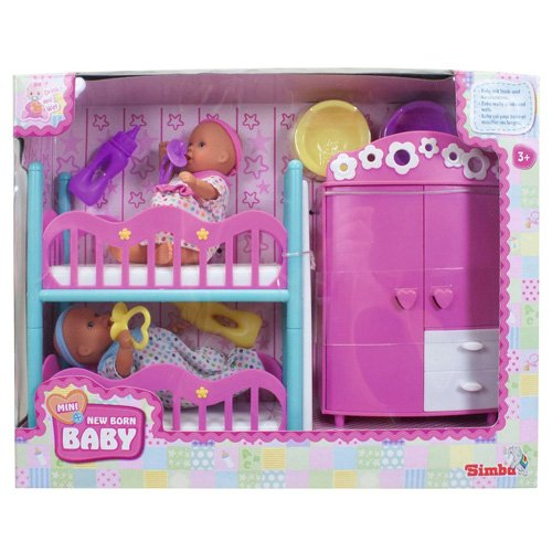 SIMBA 105036610 - Bebés en miniatura con habitación