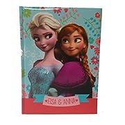 Il diario del nostro personaggio preferito con voi sempre a scuola : collezione Frozen Elsa e Anna diario 12 mesi Copertina imbottita stampata intenro bianco a quadretti Dimensione : 15 x 20 cm Colore : azzurro