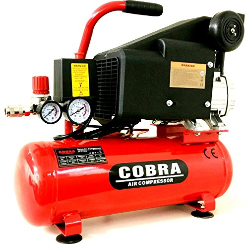 COBRA AIR TOOLS 10L LITER AIR COMPRESSOR 5.7 CFM 2 HP 115PSI 8 BAR POWERFUL
