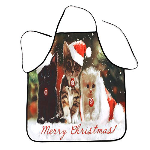 KaloryWee 2018 Sale Clearance Christmas Decoration Waterproof Apron Kitchen Apron Christmas Dinner Party apro