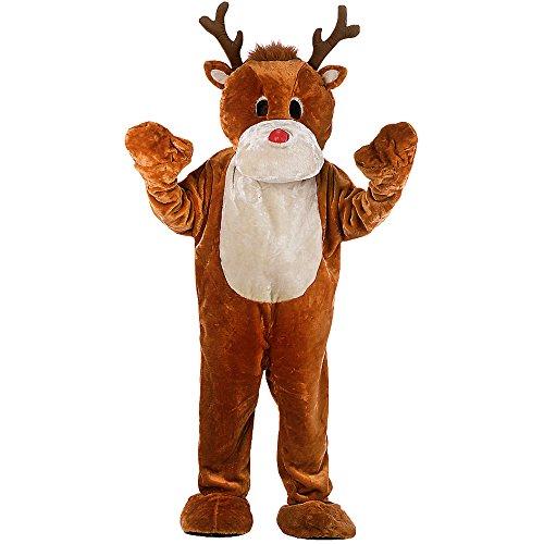 Carnival Toys 27042 - Riesen Elch Kostüm mit Handschuhen, Füße und Kopf, XXL (Rentier Maskottchen Erwachsenes)