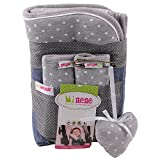 Minene Pushchair Liner and Strap Set (Grey Stars)