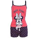 Disney, Minnie Maus, Schlafanzug-Set, Kurz Pyjama, Nachtwäsche, Top & Shorts - 32-34/UK 6-8/EU 34-36