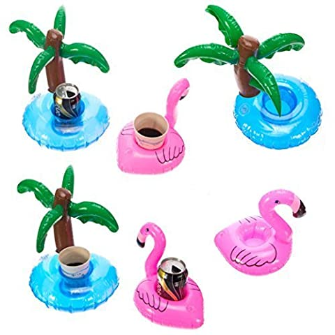 Cazul Goods Inflatable Pool Drink Holder - 3 pieces Flamingo