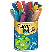 BIC Kids Visacolor XL Ecolutions Feutres de Coloriage - Pot de 18