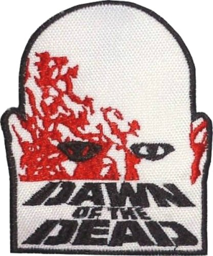 Hellraiser Kostüm Diy (Dawn Of The Dead Logo Patch (9 cm) DIY Nähen oder Bügeln bestickt auf Badge Aufnäher Horror Film Poster Night Living Zombies Souvenir)