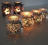 qm Set Teelichthalter Advent 1234 Weihnachten Rentier Glas Christmas Gold ü5ü 744++