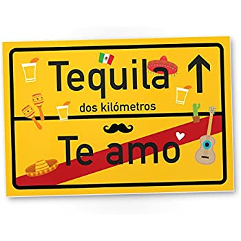 dankedir te amo tequila kunststoff schild kleines. Black Bedroom Furniture Sets. Home Design Ideas