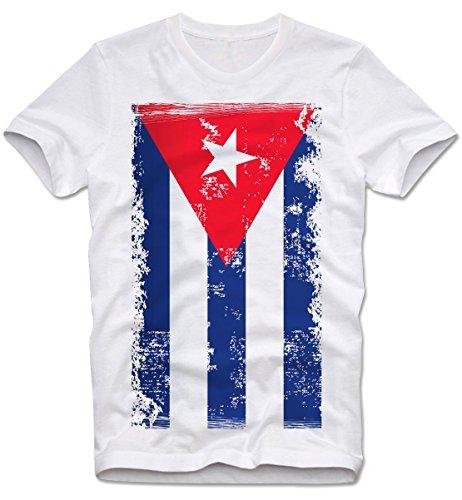 T-SHIRT CUBA KUBA FLAGGE FLAG GRUNGE RETRO VINTAGECHE REBEL, XL (Flag Rebel T-shirt)