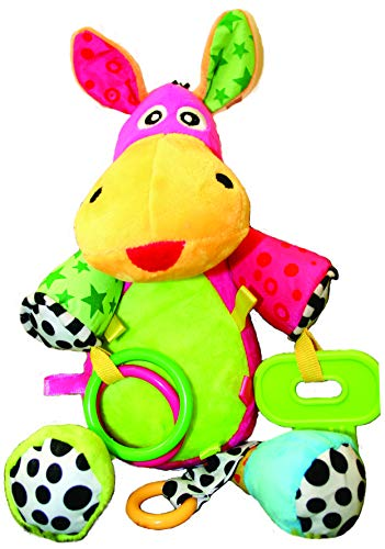 Lembo Musical Baby Toy 0-36 months perfect for pram,car,highchair,over bed,outdoor,travel,hanging with clips anywhere,ideal gift,educational elements.Very useful when teething.No battery needed!