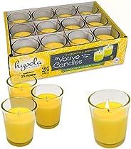 شمعة Hyoola Citronella في كأس زجاجي - زينة داخلية وخارجية وطاردة للحشرات وحشرات - رائحة طبيعية منعشة - مدة احت