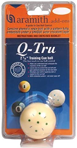 Aramith Q-Tru Training Cue Ball. - Billiards Equipment by Cue and Case