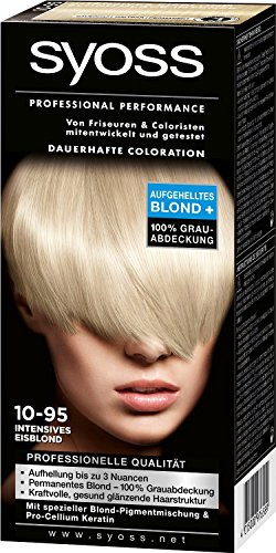 Syoss Professional Performance Coloration, 10-95 Intensives Eisblond, 3er Pack (3 x 115 ml)