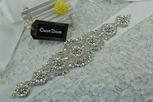 queendream Kleid Band Großhandel von Kristall Strass Band uns Zubehör Custom Farbe (Kristall Zubehör Großhandel)