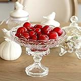 European-Style minimalistische Dekoration Wohnzimmer Couchtisch Frucht Kristallklares Glasschalen-A