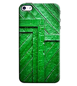 Blue Throat Green Painted Door Hard Plastic Printed Back Cover/Case For Apple iPhone 4s