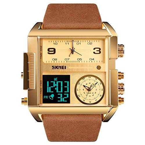 TTLOVE Uhren Herren wasserdichte Multi-Funktions-Sportuhr Square Fashion Electronic Watch Digital Armbanduhren Die Beste Wahl FüR Geschenke