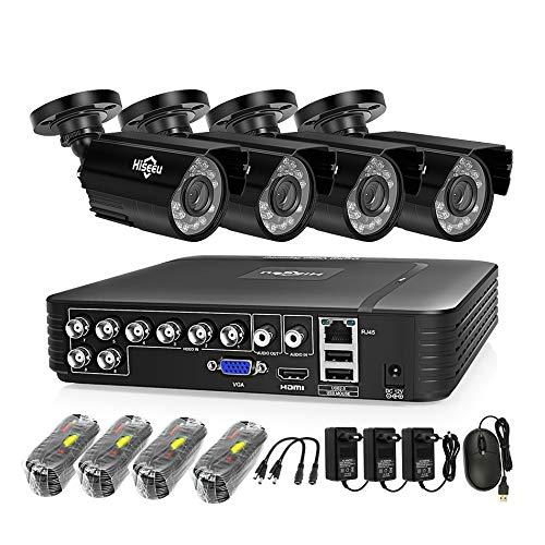 Danieerstore Vorinstallierte 1T Festplatte 8 Kanal Überwachungskamera System 1080N Video DVR Recorder mit 4pcs HD 1080P Drinnen draußen Wasserdicht CCTV Kameras -