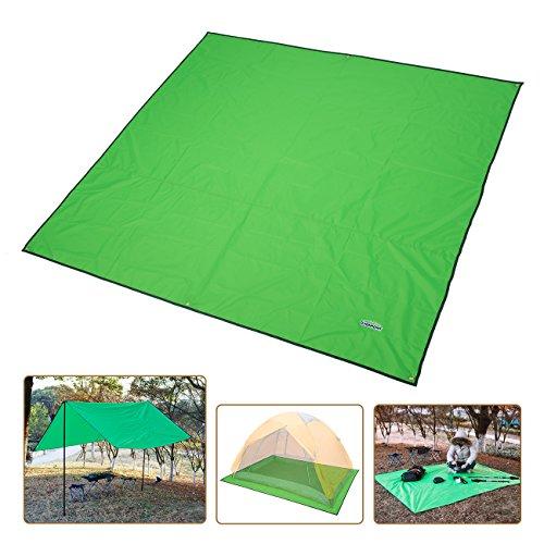 Overmont Wasserdicht Faltbar Matte Zeltmatte Campingdecke Picknickdecke Stranddecke für Camping Wandern Picknick Strand Outdoor Kleine Plane
