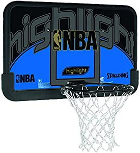 Spalding Basketballkorb Spalding NBA Highlight Backboard, schwarz/blau,...