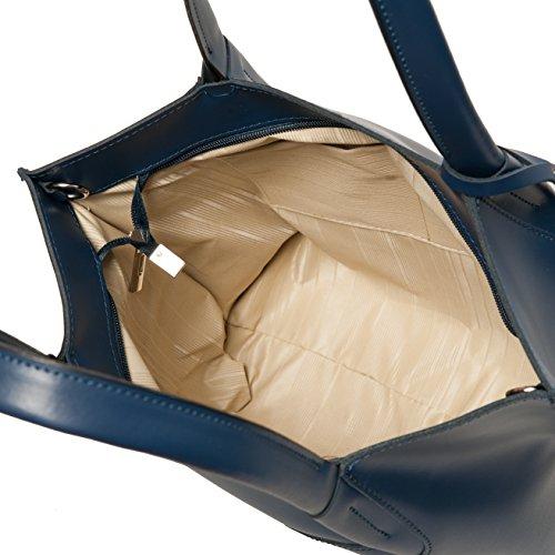 Shopper , Borse Tote , Sacchetto( 33/ 34/ 11 cm )Pelle Mod. 2049 by fashion-formel blu