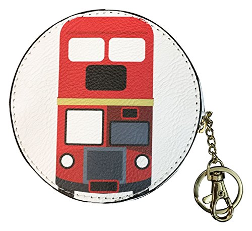 Kukubird Moneta Versatile Variazioni Alimento Animale Carina Emoji Bus Tv Cassette Colorate Portafoglio Portamonete Donna Clutch Bus Red