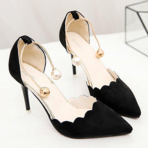 XY&GKDonna Sandali High-Heeled sandali estivi Femmina nuovo stile, Baotou bene con belle e appuntite, 34, Big Red,con il migliore servizio 37black