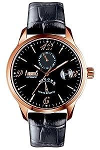 ARBUTUS AR0081BBRA - Reloj para hombres, correa de cuero color negro de ARBUTUS