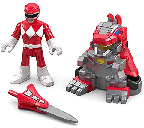 Fisher-Price – Imaginext – Power Rangers : Mighty Morphin – Ranger Rouge & Armure T-Rex – Figurine + Armure de