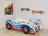 topbeds Bett für Kinder Design Auto F1Matratze inklusive, Holz, 05 CAR, 140 x 70 centimeters