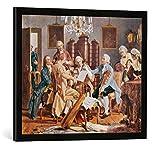 Gerahmtes Bild von Julius Schmid Haydn-Quartett, Kunstdruck im hochwertigen handgefertigten Bilder-Rahmen, 70x50 cm, Schwarz matt