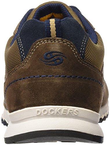 Dockers by Gerli Herren 38av086-201 Low-Top Braun (braun/blau 306)