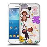 Head Case Designs Affen Weihnachten Im Weltraum Soft Gel Hülle für Samsung Galaxy S4 Mini I9190