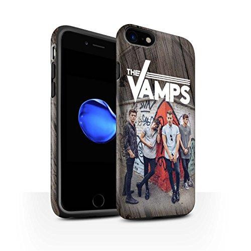 Offiziell The Vamps Hülle / Matte Harten Stoßfest Case für Apple iPhone 7 / Kohlenstoff Muster / The Vamps Fotoshoot Kollektion Holz-Effekt