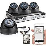 Zmodo™ 8CH 960H DVR CCTV Kit de Video Surveillance Extérieur 4x 700TVL Caméra Dome Haute Résolution Jour/Nuit Etanche Caméra de Surveillance Avec Disque Dur de 500GB