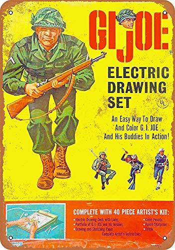 Electric Drawing Set Blechschild Metall dekorative Wand Poster Souvenir ()