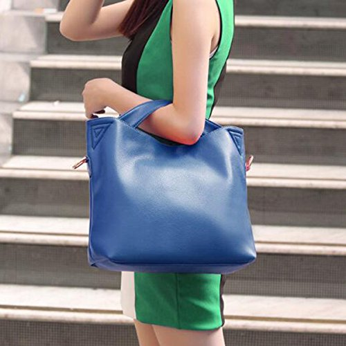 Borsa In Pelle Multicolore Blue