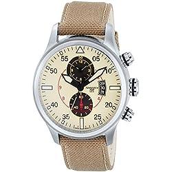 TORGOEN Swiss Herren-Armbanduhr Chronograph Quarz Nylon T33402