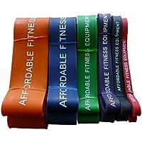 Bandas de resistencia para Crossfit - Levante - levantamiento de pesas - Fitness - 15 a 80 kg de resistencia (Rojo)